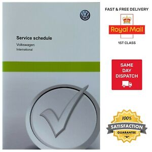 GENUINE NEW VW VOLKSWAGEN SERVICE BOOK COVERS ALL VW MODELS GOLF POLO PASSAT UP