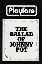 "Betty Buckley ""BALLAD OF JOHNNY POT"" David Carradine 1971 FLOP Preview Playbill"