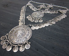 Statement Long Boho Coin Necklace Vintage Bohemian Gypsy Tribal Fashion Jewelry