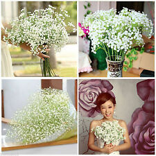 Artificial Flowers White Gypsophila Floral Bouquet Fake Wedding Home Decor 1Pc F