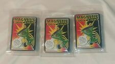 LOT OF 3 BODY LIGHT-MAGNETIC LIGHTS. MARTINI GLASS. BATTERIES INCLUDED-NIP
