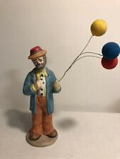 Vintage Flambro Collection Emmett Kelly Jr. Hobo Clown with Three Balloons 1984