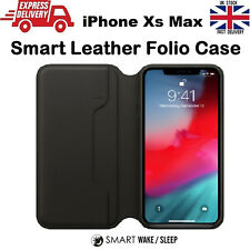 For iPhone Xs Max Sleep & Wake Leather Folio Flip Cover Case Wallet Protective