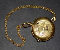 antique vintage maritime brass pocket watch calendar push button watch good gift