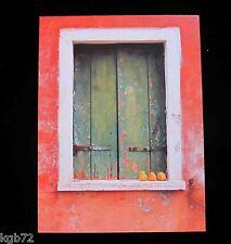 Leanin Tree Orange Wall White Window Blank Greeting Card Multi Color R259