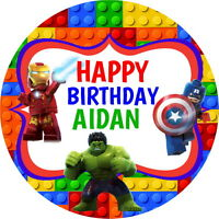 LEGO AVENGERS PERSONALISED GLOSS BIRTHDAY PARTY BAG, SWEET CONE STICKERS