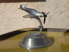 Art Deco ~ Propeller - Flugzeug - Stand - Schreibtisch - Modell Aluguss Skulptur