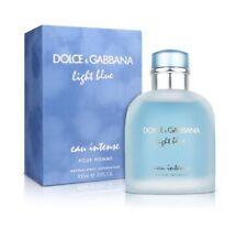 D&G DOLCE & GABBANA LIGHT BLUE EAU INTENSE 100ml POUR HOMME EDP Senza La Scatola