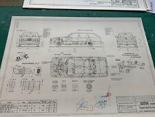 BMW E30 NFL Touring 325 1988 Konstruktionszeichnung/ Blueprint.