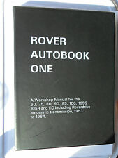 ROVER 60 75 80 90 95 100 105R 105S 11O WORKSHOP MANUAL ROVERDRIVE 1953 - 1964