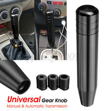 AU Universal Long Car Manual Gear Stick Gearstick Shifter Lever Knob Black 180mm