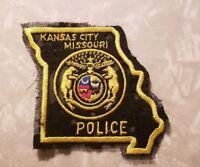 VINTAGE Old Mesh KANSAS CITY MISSOURI MO Police Sheriff Patch  STATE SHAPE