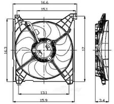 Engine Cooling Fan Assembly Global 2811307