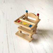 Vintage Sylvanian Families Tomy Baby Furniture | Ornate High Chair