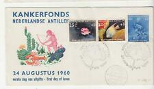 SURINAME, 1960 Cancer Relief Fund set of 3 on Illustrated First day cover.
