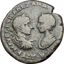 SEVERUS ALEXANDER & JULIA MAMAEA 222AD Marcianopolis Ancient Roman Coin i65000