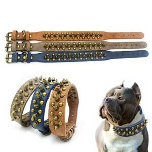 Cool Spiked Rivet Studded PU Leather Dog Pet Collars For Small Medium Dogs