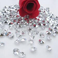 1000 Clear Acrylic Silver Diamond Confetti 6.5mm Wedding Table Scatters Decor