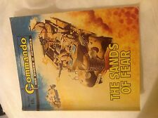 Vtg Commando The Sands of Fear No.1644 ISSUE PRICE 18p 1982 War Story Picture Bk