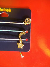 18kt Gold Plated Bracelets New with Tags Triple pack Peace,Moon,Star jewellery