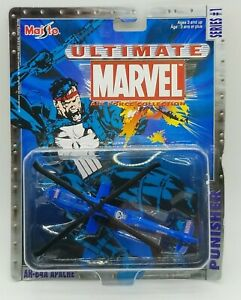 2002 MAISTO MARVEL TAILWINDS AH-64A APACHE THE PUNISHER SERIES 1 Diecast 8+