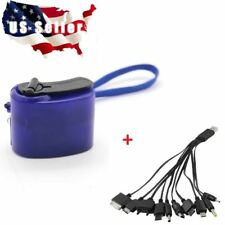 USB Hand Crank Charger Generator Dynamo  w/cable Mobile Phone Emergency Camping