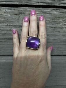 18kt Amethyst Ring