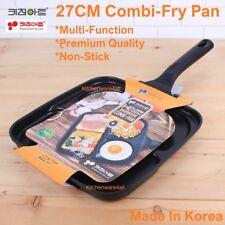 Multi-Function 3 holes 27 Cm Square Fry pan Egg Omelette pan cake BBQ Non-Stick