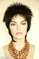 Liza Minelli Short, Spikey, Razor Cut shag style Blonde Red Straight Wigs