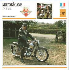 SCHEDA MOTO MOTORBIKE CARD - MOTOBECANE 175 Z 22 C - 1955