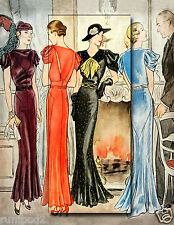 Art Deco Poster/Print/ Fashion Illustration/Vogue Like/Fashionable Clothes/17x22