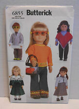 "Butterick Craft #6855 18"" DOLL CLOTHES Sewing Pattern 5 Outfits ~ UNCUT"