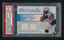 PSA 10 JONATHAN STEWART 2008 UPPER DECK SP ROOKIE THREADS JERSEY AUTO RC #/25