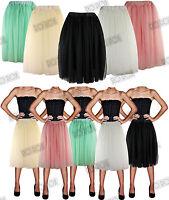 Vintage Style 1950s Rockabilly Knee Length Tutu Ballet Tulle Net Skirt UK 6-16