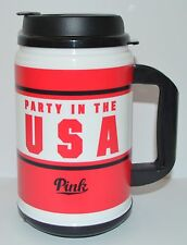 VICTORIA'S SECRET PINK PARTY IN THE USA TRAVEL CHUG MUG 24 OZ ICED CUP REUSABLE