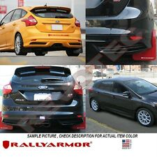 Rally Armor Mud Flaps 2013-2019 Ford Focus Hatchback w Red Logo