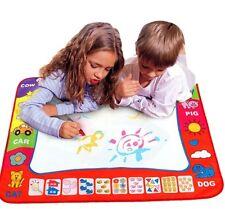 Aqua Doodle Mat Portable Mat Kids Drawing W/Pens Can Draw Over Again Craft Art