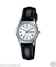LTP-V006L-7B White Casio Ladies Women Watches Leather Band Brand-New