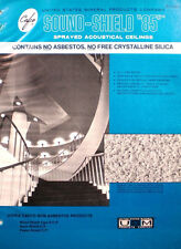 1974 CAFCO Sound Shield 85 Catalog NON ASBESTOS Sprayed Accoustical Ceilings