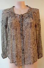 Target size 16 lace print top long sleeve button thru