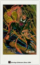 1995 Fleer Ultra Spiderman Cards Golden Web Chrome Card No2 Carnage