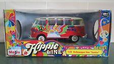 VW Split Screen T1 Camper Hippie Red Van Maisto 1:25/24 Scale Diecast Model