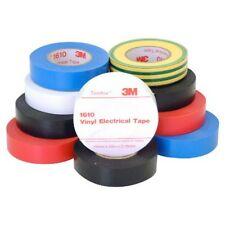 3M Temflex Electrical Insulation Tape Rainbow Pack of 10 Vinyl Scotch Super 33