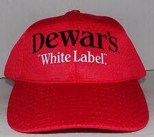 Dewar's White Label Baseball Cap Trucker Bar Booze Drinking Hat Adjustable Party