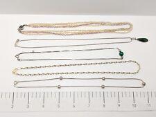 Sterling Silver Five(5) Necklace Bulk Lot 35.9g Scrap or Wear 925
