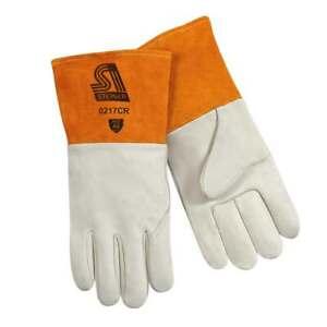 Steiner 0217CR Premium Cowhide MIG Welding Gloves Cut Resistant Long Cuff Small