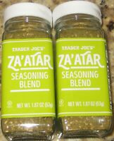 2- Pack Trader Joe's ZA'ATAR Seasoning Blend, 1.87 OZ each.