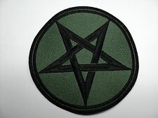 PENTAGRAM   OLIVE   EMBROIDERED PATCH