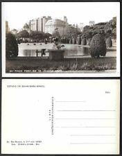 Old Postcard - Rio de Janiero, Brazil - Praca Paris - Real Photo, RPPC