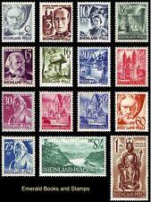 EBS Germany 1947 French Zone Rhineland-Palatinate Michel 1-15 MNH**